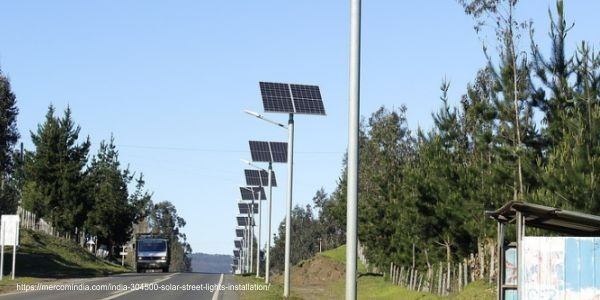 solar power panel for street lights